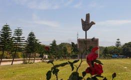 开放手纪念碑,昌迪加尔,印度 库存图片