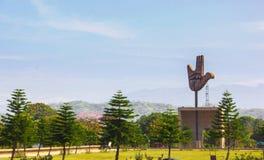开放手纪念碑,昌迪加尔,印度 库存照片