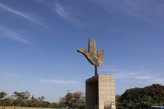 开放手纪念碑,昌迪加尔,印度 免版税库存图片