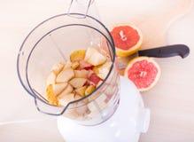 开放搅拌器顶视图用果子 免版税图库摄影