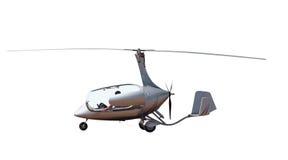 开放机盖的旋转直升飞机 库存照片