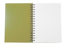 开放棕色的笔记本 库存照片