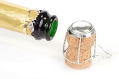 开放瓶的香槟 免版税库存图片
