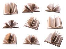 开放的书九 免版税库存照片