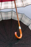 开放的伞和反射 库存图片