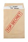 开放的信包 免版税库存照片