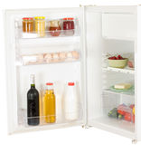 开放的冰箱 免版税库存图片