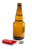 开放的啤酒 库存图片