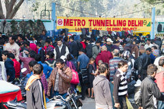 开放的市场在德里印度 免版税图库摄影