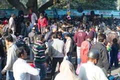 开放的市场在德里印度 图库摄影