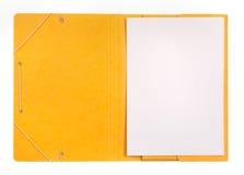 开放的文件夹 免版税库存照片