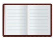 开放的日记帐 库存图片