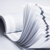 开放的杂志 免版税图库摄影