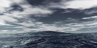 开放的海洋 库存照片