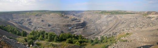开放的煤矿 库存照片