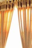 开放的窗帘 免版税图库摄影