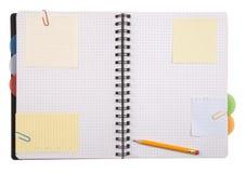 开放的笔记本 免版税库存图片