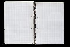 开放的笔记本 库存照片