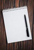 开放的笔记本 免版税库存照片