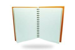 开放的笔记本 免版税图库摄影