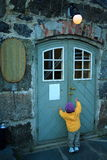 开放的门请 免版税库存照片