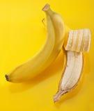 开放的香蕉 库存图片