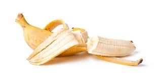 开放的香蕉 免版税库存照片