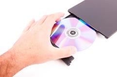 开放的DVD机 库存图片