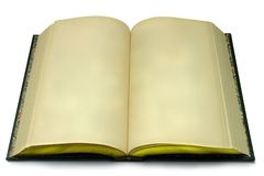 开放空白的书 库存图片
