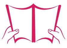开放空白的书 免版税图库摄影