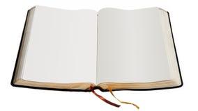 开放空白的书 免版税库存图片