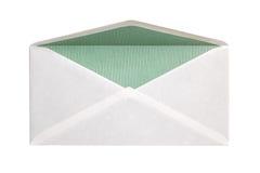 开放空白的信包 免版税库存照片