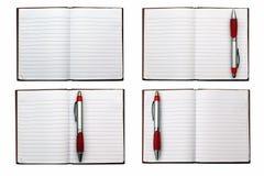 开放空白的笔记本 库存照片