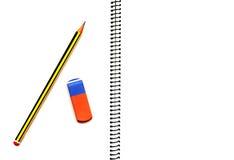 开放空白的笔记本 免版税库存图片