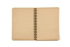 开放空白的笔记本 免版税图库摄影