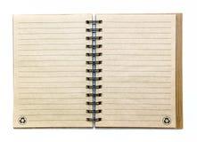 开放空的笔记本 库存照片