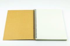开放笔记本盖子 免版税库存图片