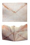开放老空白的白色被隔绝的信封和闭合 库存照片