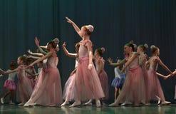 开放舞蹈节日2016儿童的舞蹈小组执行芭蕾 免版税图库摄影