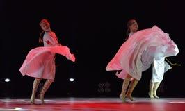 开放舞蹈节日2016儿童` s舞蹈小组执行斯拉夫语 库存照片