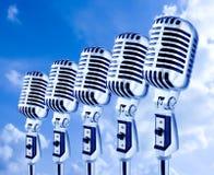 开放航空的mics 免版税库存照片