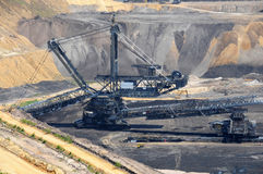 开放褐煤的开采 免版税库存照片