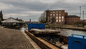 开放运转的驳船 免版税图库摄影