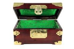 开放配件箱中国的珠宝 免版税图库摄影