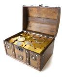 开放配件箱充分的货币 免版税库存照片