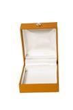 开放配件箱棕色的珠宝 免版税图库摄影