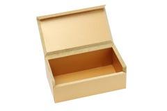 开放配件箱棕色的礼品 免版税库存照片
