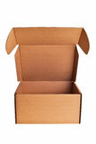 开放配件箱棕色的纸盒 库存照片