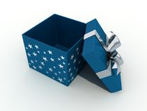 开放配件箱的圣诞节 图库摄影