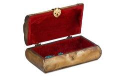 开放配件箱的珠宝 库存图片